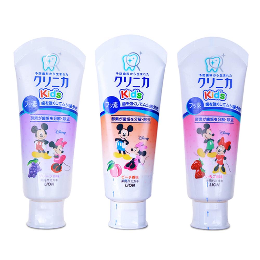 日本狮王disney儿童宝宝牙膏60g